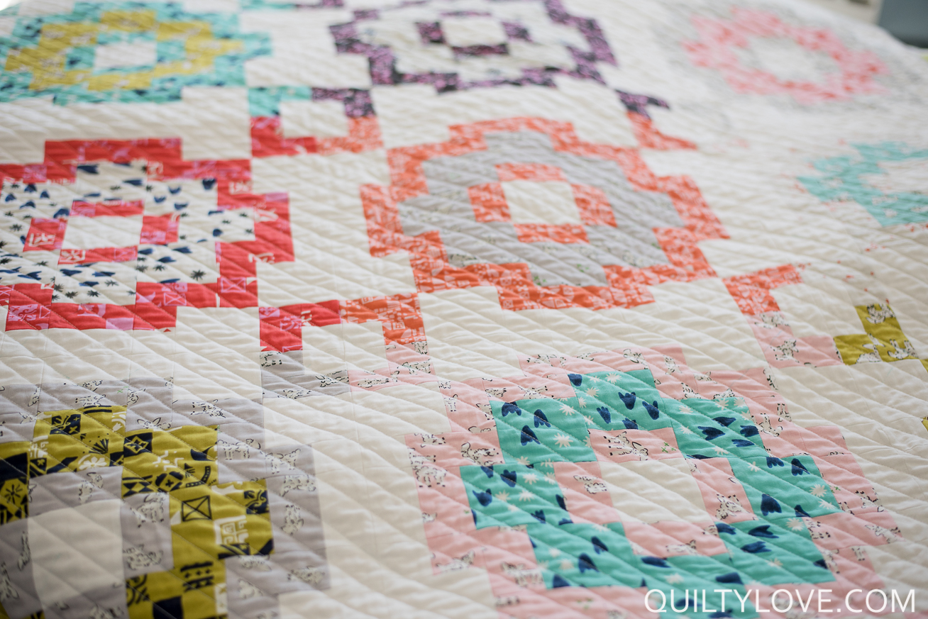 City Tiles Quilt The Scrappy Cotton And Steel Version