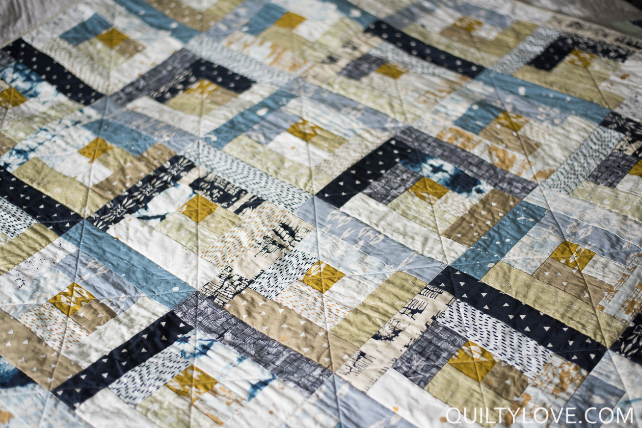 Observer log cabin quilt quilty love