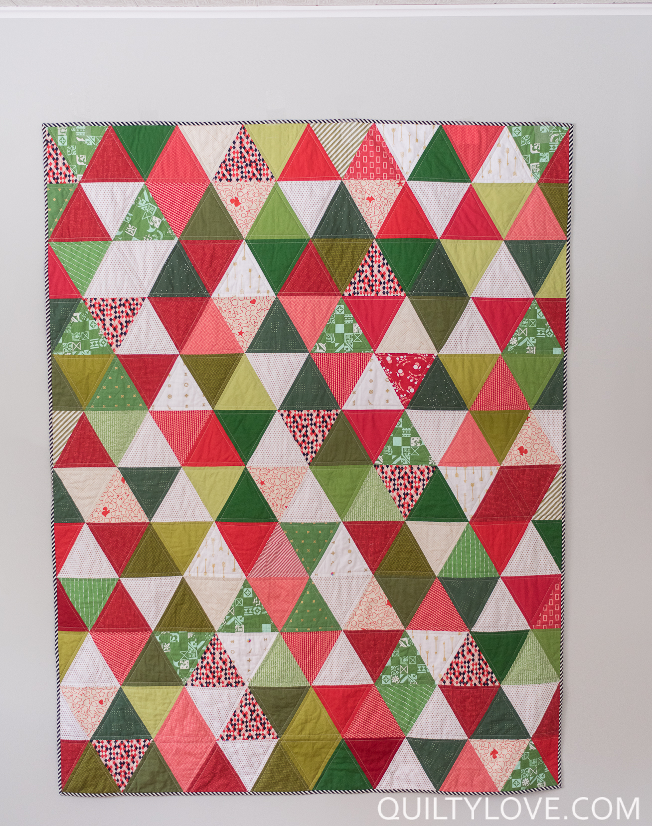 Scrappy Triangle Quilt The Christmas One Quilty Love