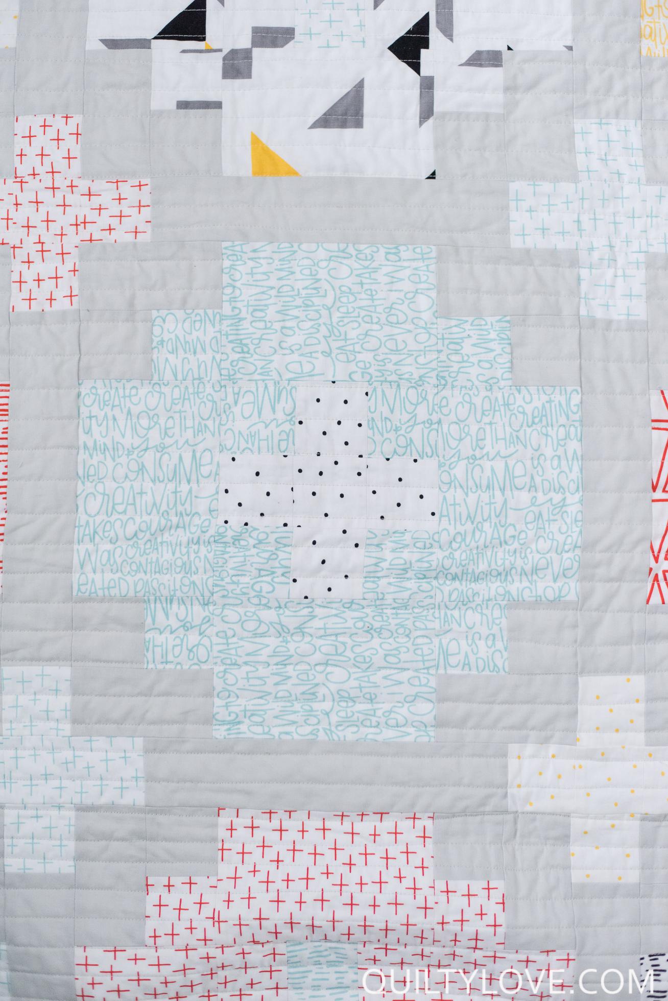 Cross Tile Quilt Pattern