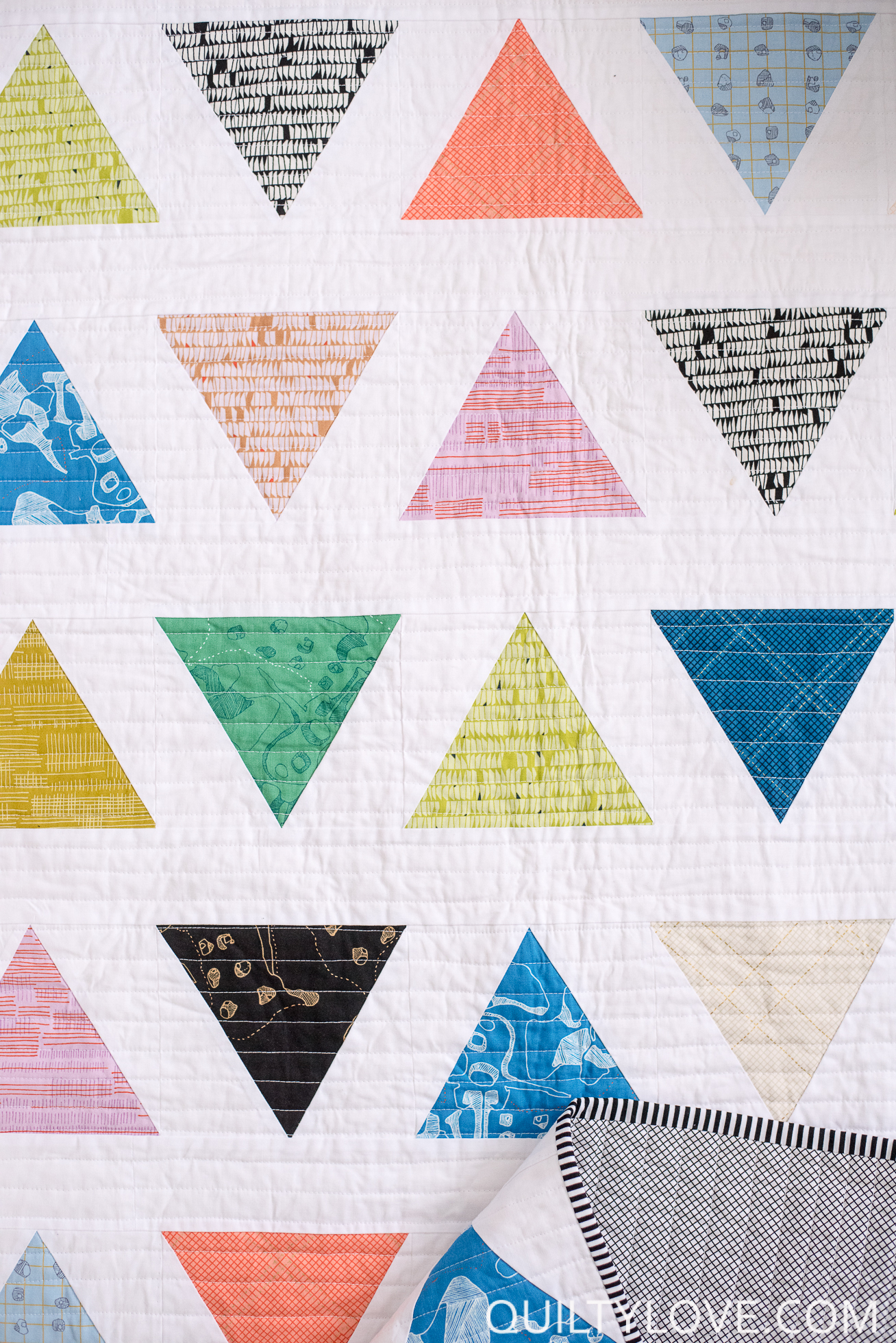 Introducing The Triangle Pop Quilt Pattern Quilty Love