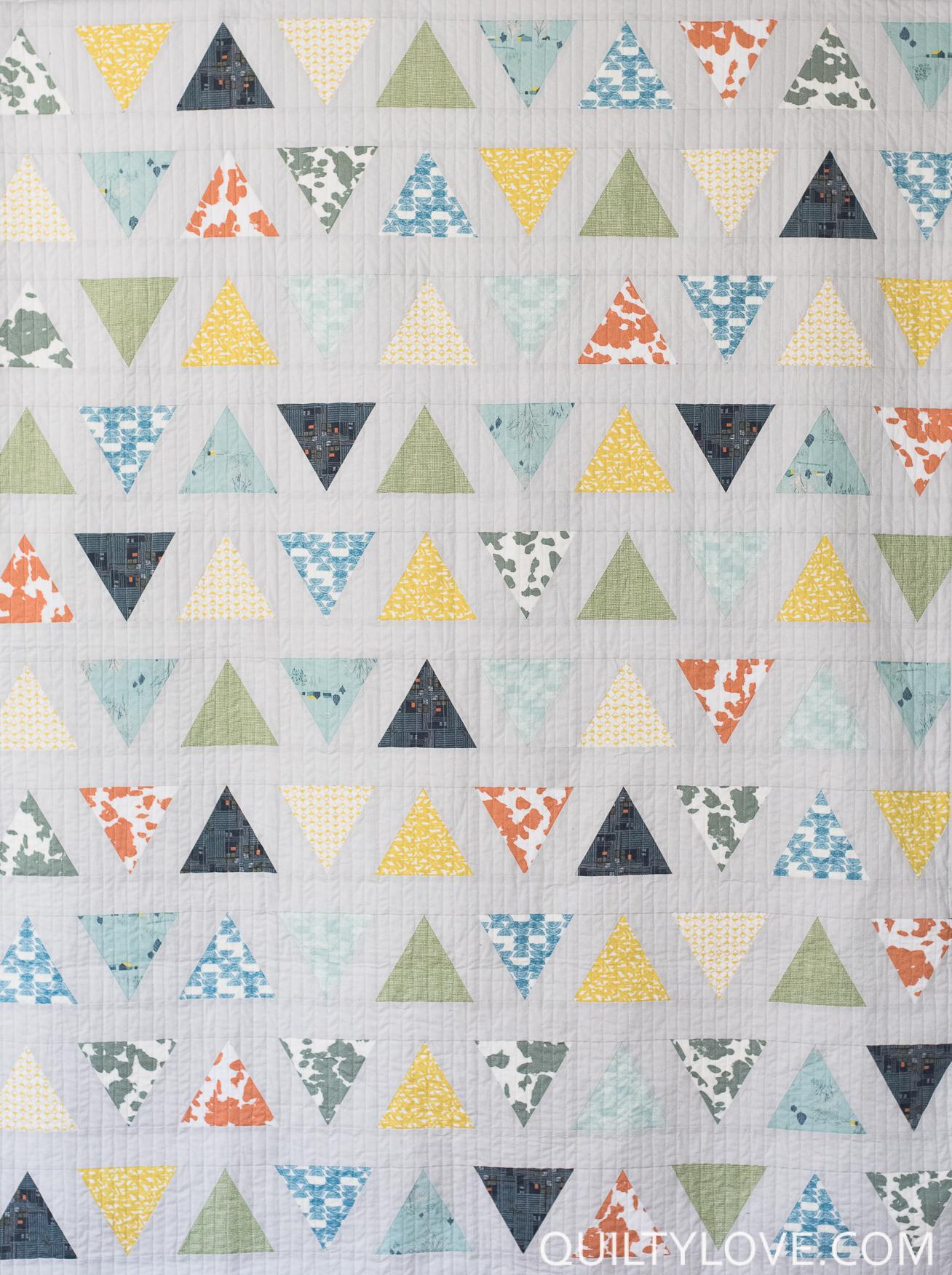 triangle pop quilt