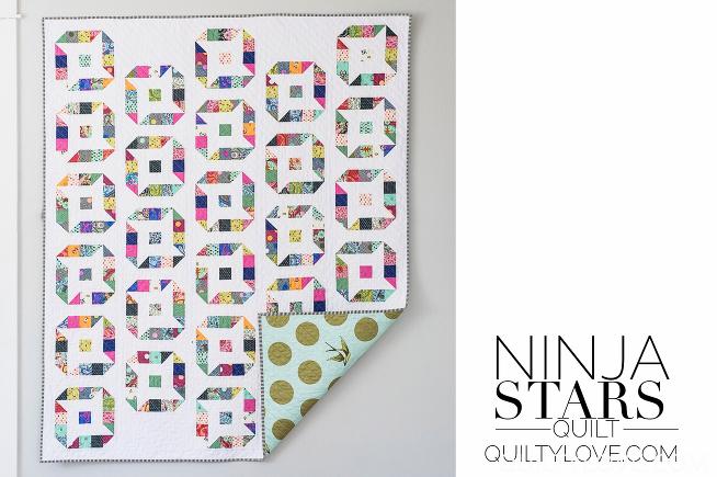 ninja stars jelly roll quilt