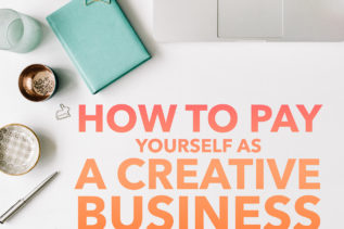 pay yourself-creative business owner
