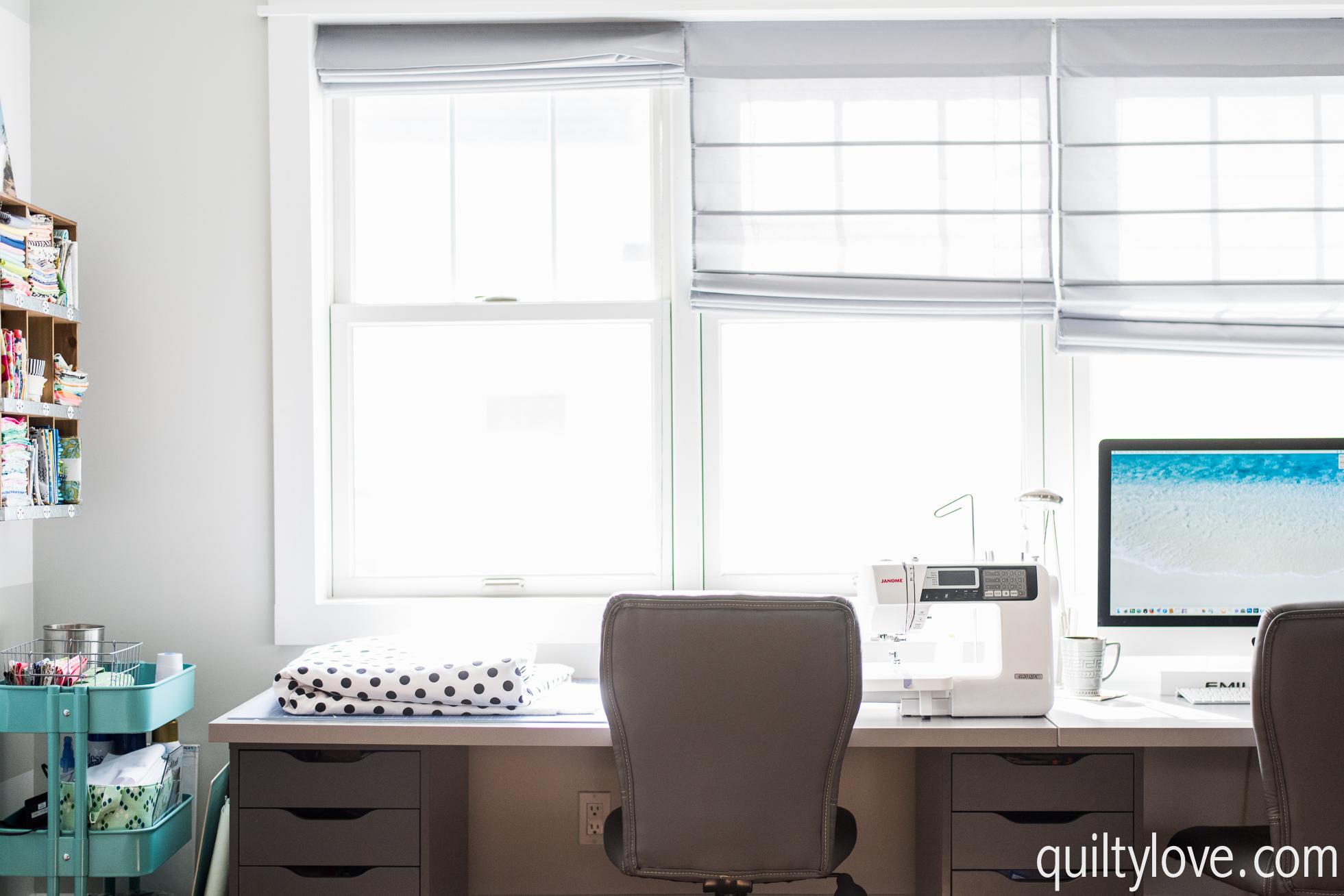 quilting workspace