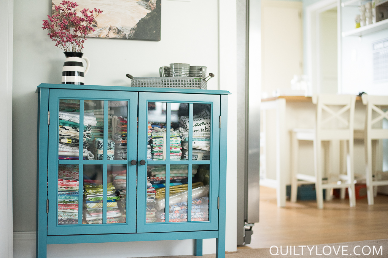 Quilting (and working) in a small space - Quilty Love