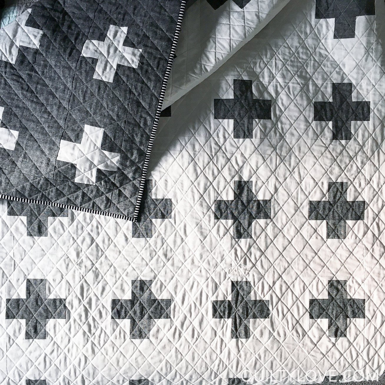 Double the Plus Essex Linen quilt