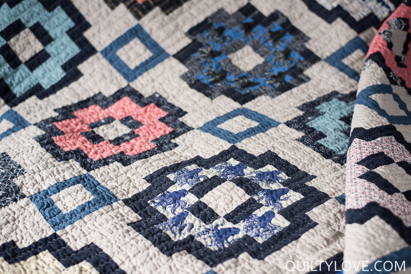 essex linen City Tiles Quilt