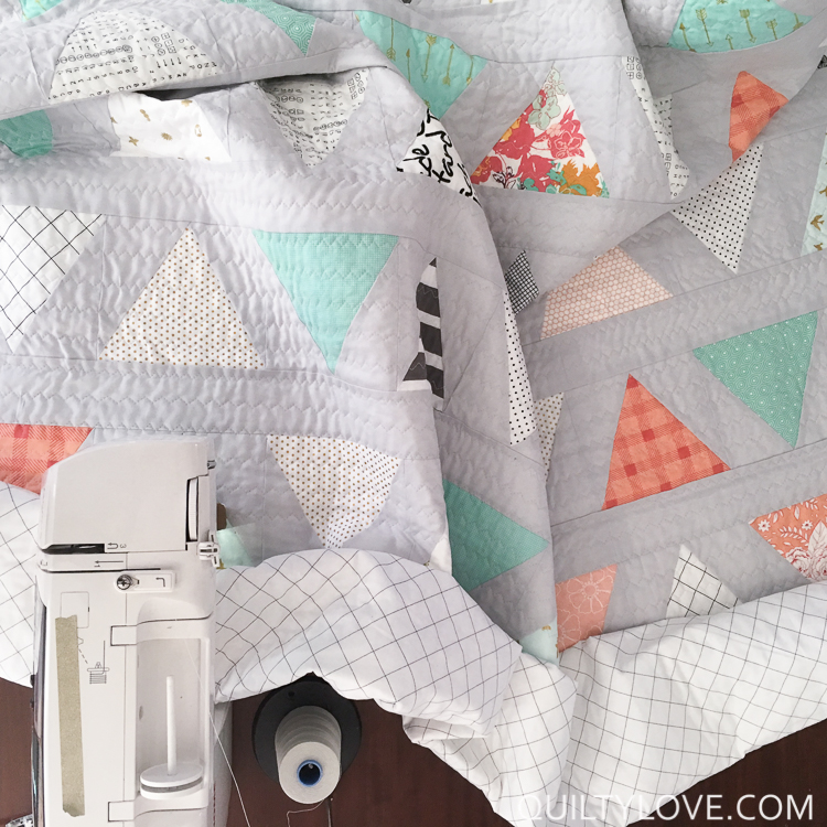twin size triangle pop quilt