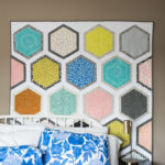 Cotton and Steel Triangle Hexies quilt pattern