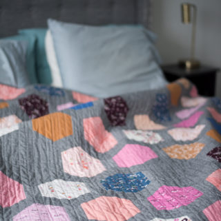 hexie framed quilt