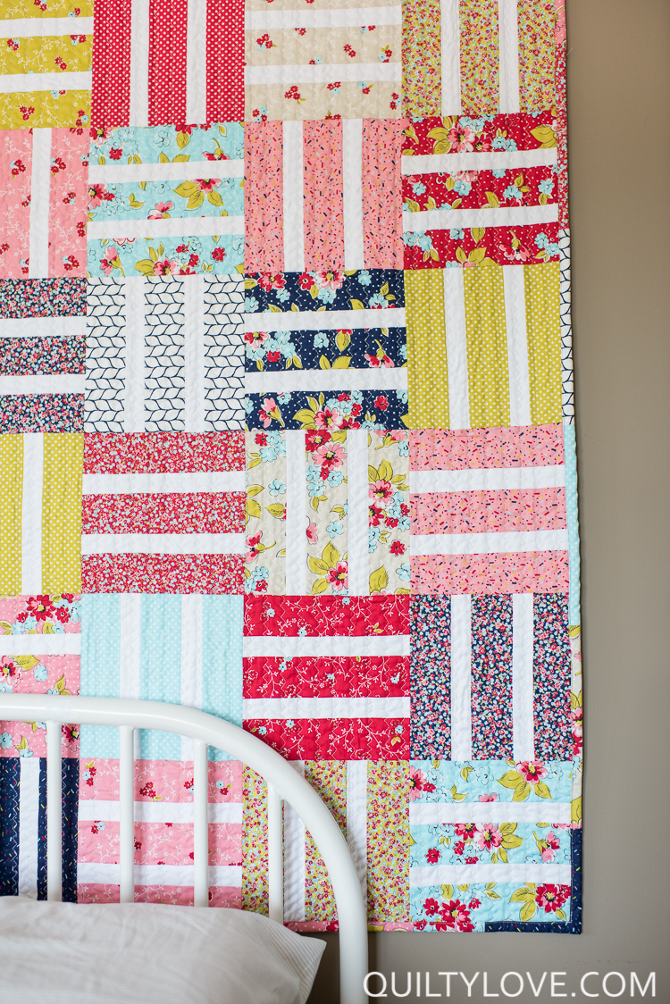 Baby Quilt Blocks.Free Easy Baby Quilt Tutorial Quilty Love