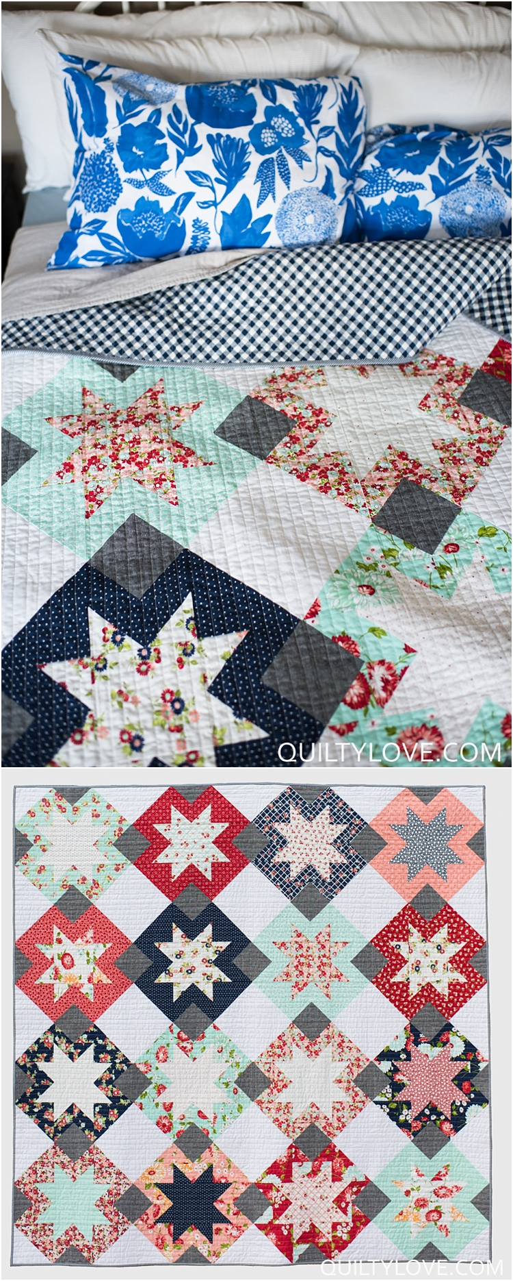 North Star Quilt A Sawtooth Star Quilt Pattern Quilty Love
