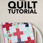 doll quilt tutorial by emily of quiltylove.com
