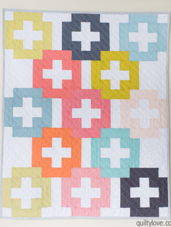 plus and minus quilt pattern by Emily of Quiltylove.com
