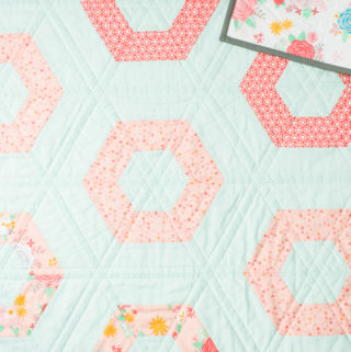 Hexie Rows baby quilt
