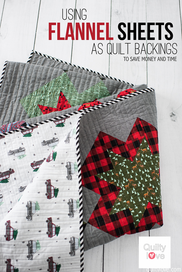 Save Money Quilting Flannel Sheets As Quilt Backings Quilty Love