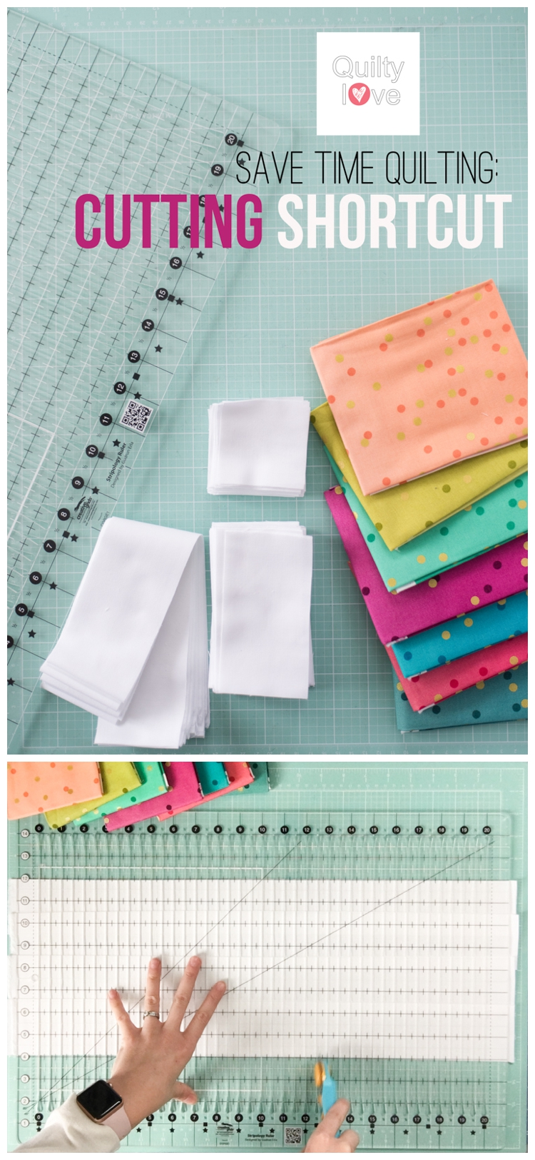 Save time quilting with this cutting shortcut
