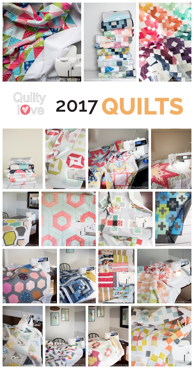 2017 Quilty Love quilts