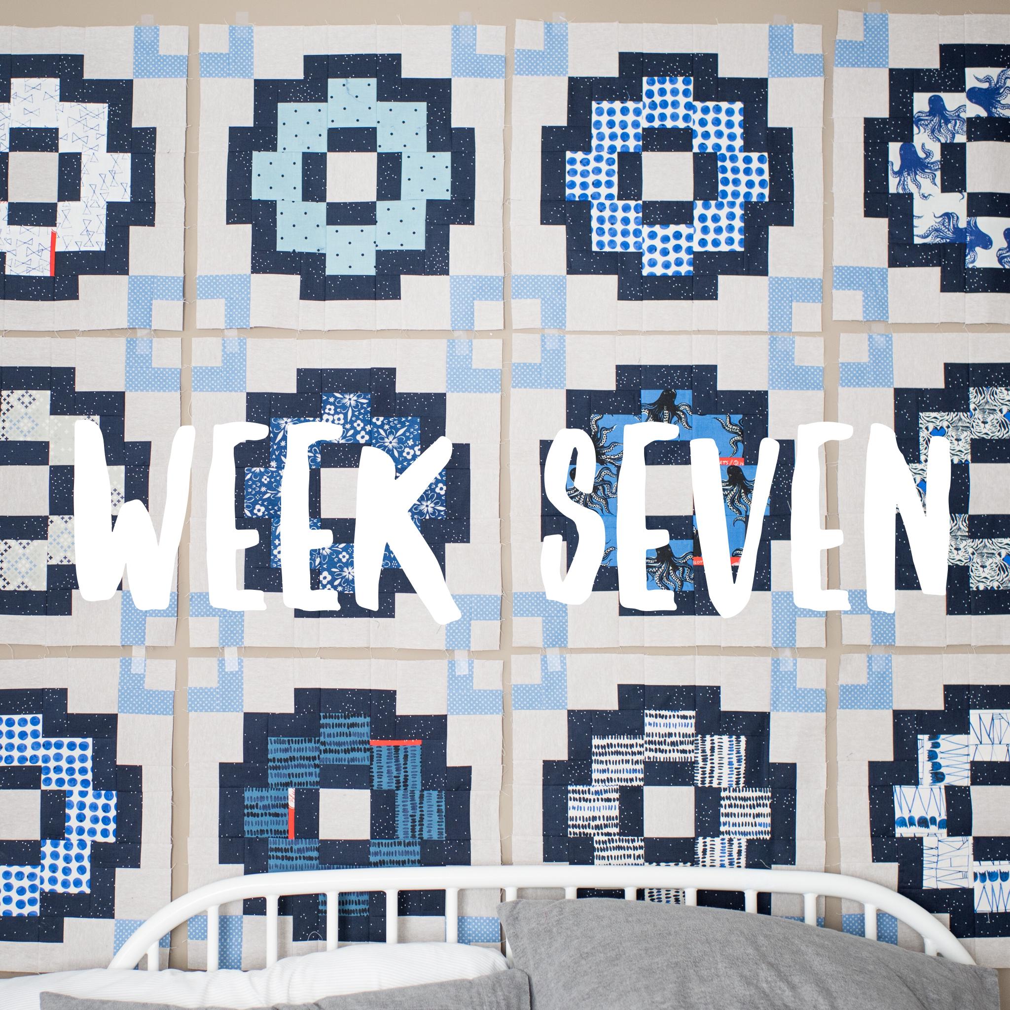 City Tiles Quilt Along week seven