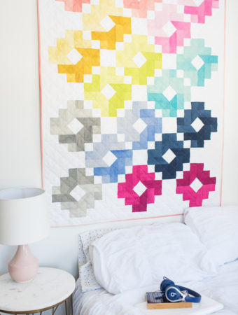 Cotton and Steel Ombre Gems quilt by Emily of quiltylove.com
