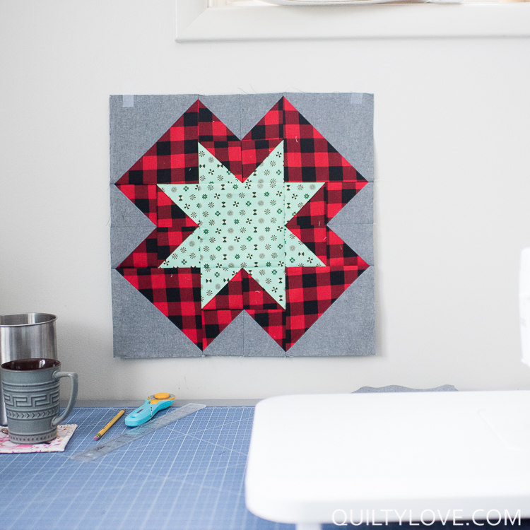 Christmas North Star quilt pattern