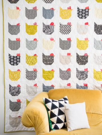 chicken quilt by emily of quiltylove