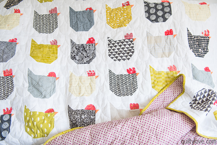 The Chicken Quilt Link To Free Tutorial Quilty Love Awesome Chicken Quilt Pattern