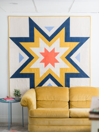 Expanding Stars quilt pattern by Emily of Quiltylove.com