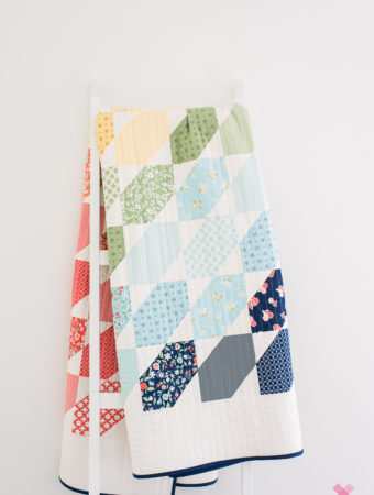 Jelly bean quilt by Emily of quiltylove.com