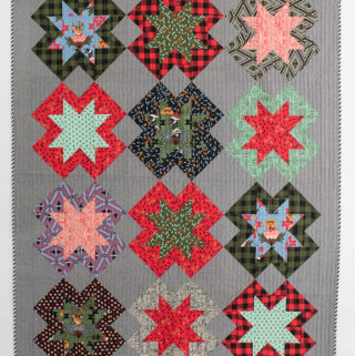 Christmas North Star quilt by Emily of Quiltylove.com