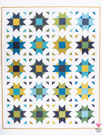 Compass Star quilt pattern by Emily of Quiltylove.com