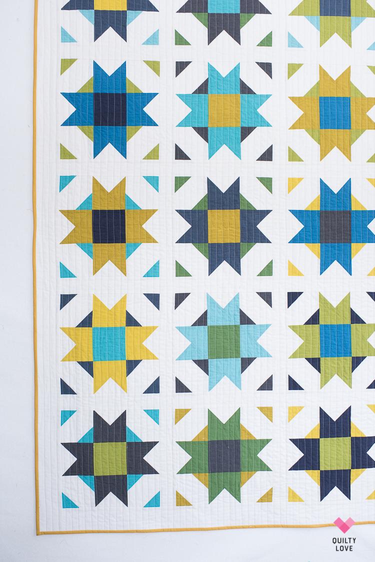 Compass Star Quilt Pattern A Modern Star Quilt Quilty Love