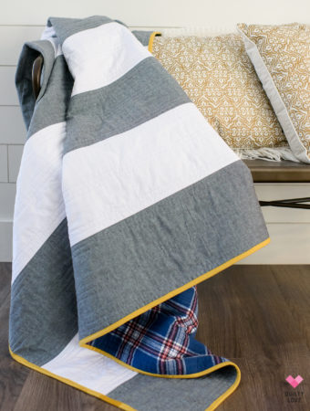 Striped linen quilt tutorial