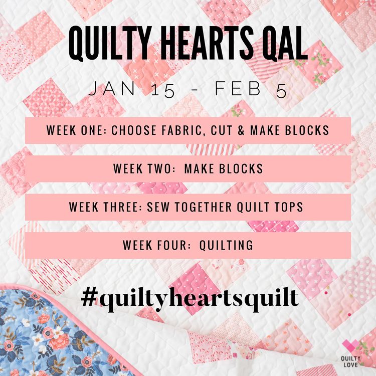 Quilty Love Quilt Along - Heart quilt pattern