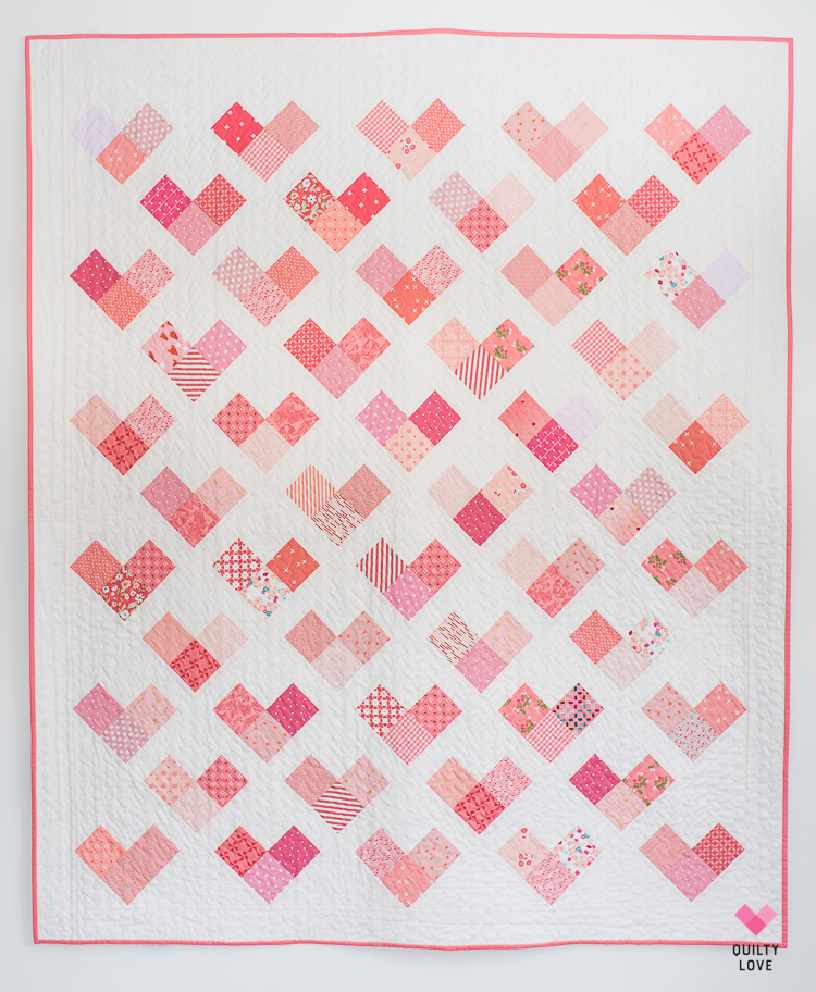 Quilty Hearts Quilt Pattern - A scrappy quilt