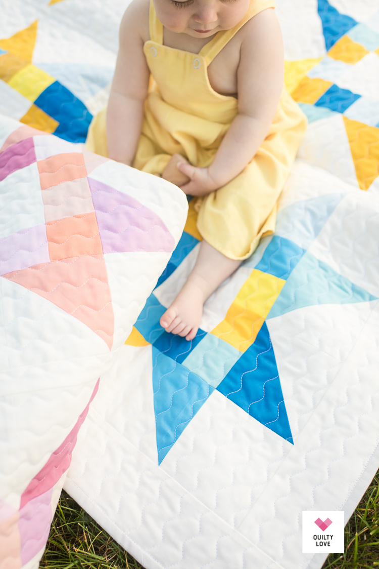 Quilty Stars quilt pattern by Emily of quiltylove.com