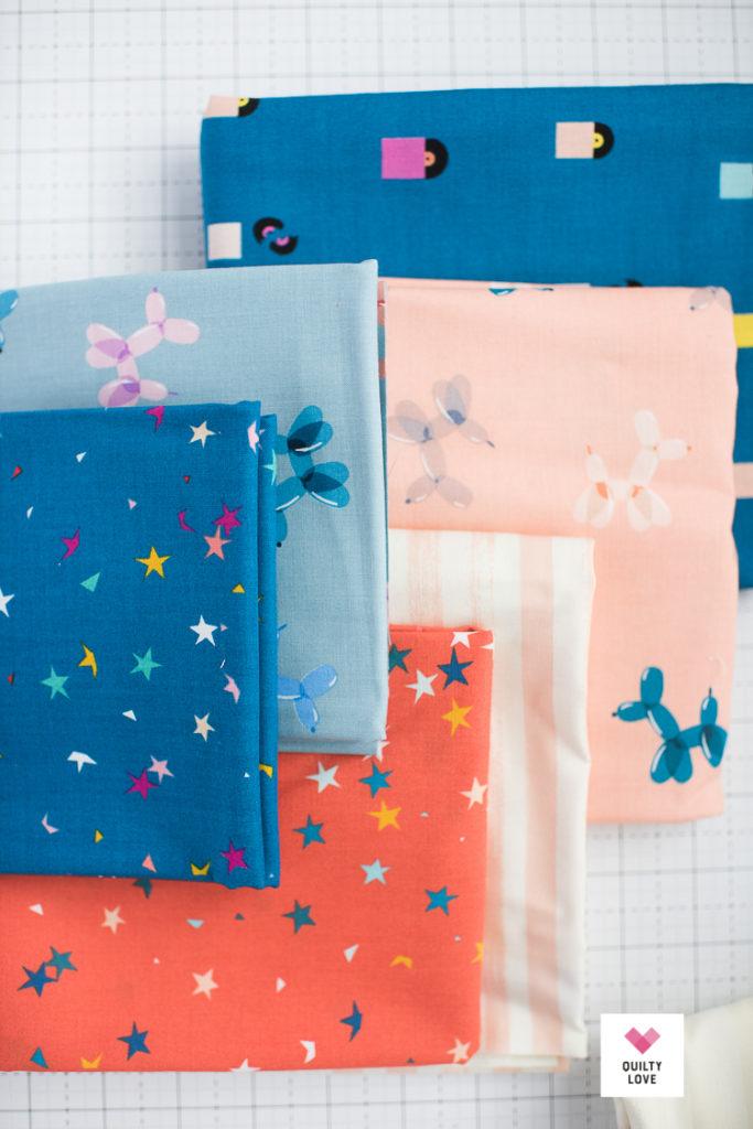 Ruby Star Society Zip, Pop fabric line by Rashida Coleman-Hale for Moda fabrics.