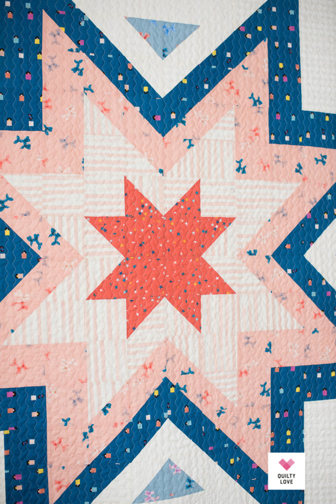 Big and bold Expanding Stars quilt using Ruby Star Society fabrics.