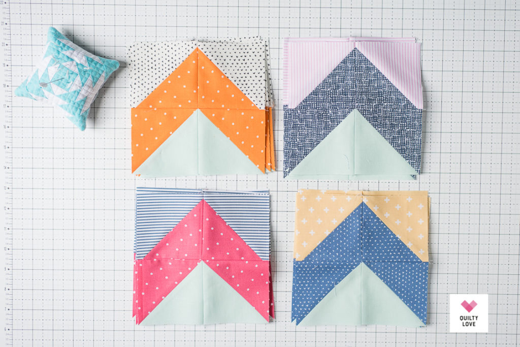 Flying geese using Dear Stella fabrics
