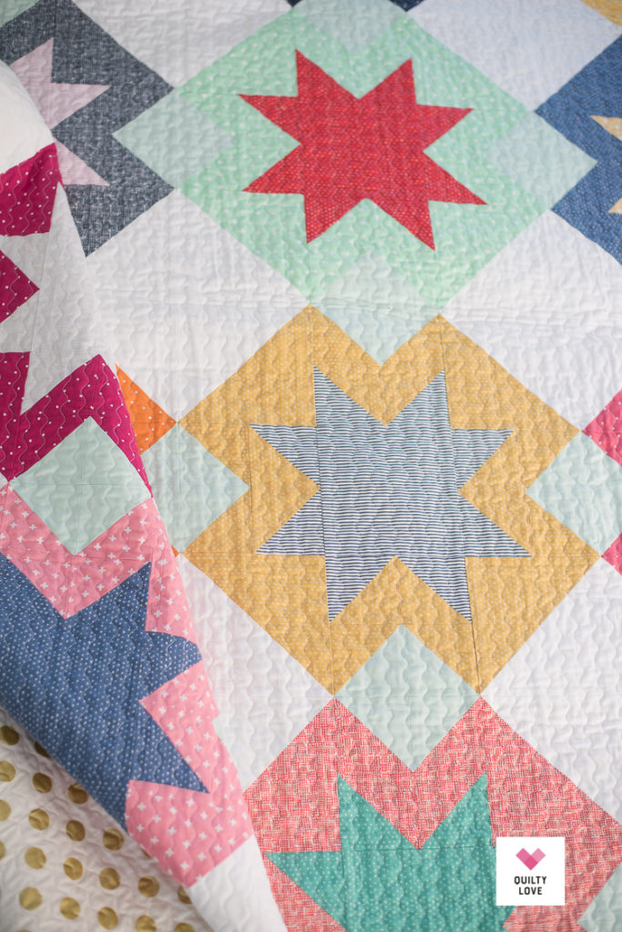 Dear Stella North Star quilt by Emily of Quiltylove.com