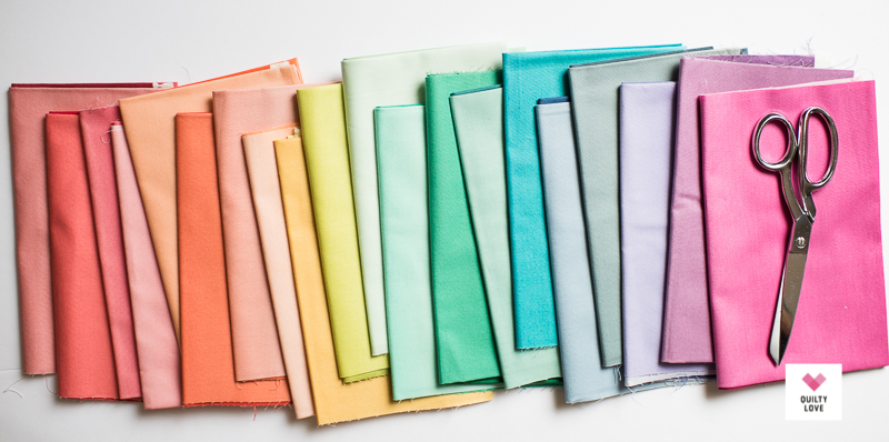 VandCo ombre fabrics as an Ombre Gems quilt kit