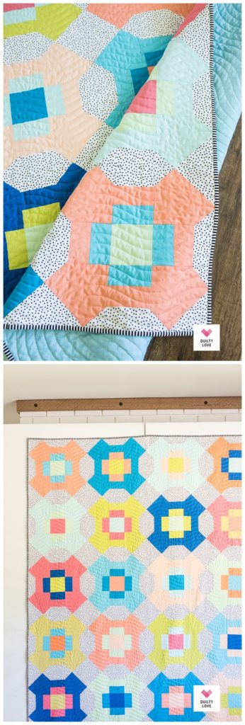 Sweet Summertime solids quilt pattern by Emily of quiltylove.com