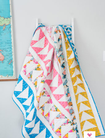 Flying geese quilt by Emily of quiltylove.com.