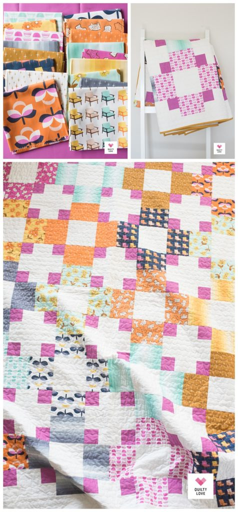 Hopscotch II quilt by Emily of quiltylove.com