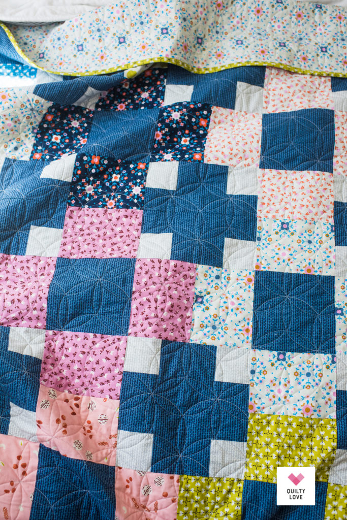 Hopscotch quilt by Emily of quiltylove.com using Smol fabrics