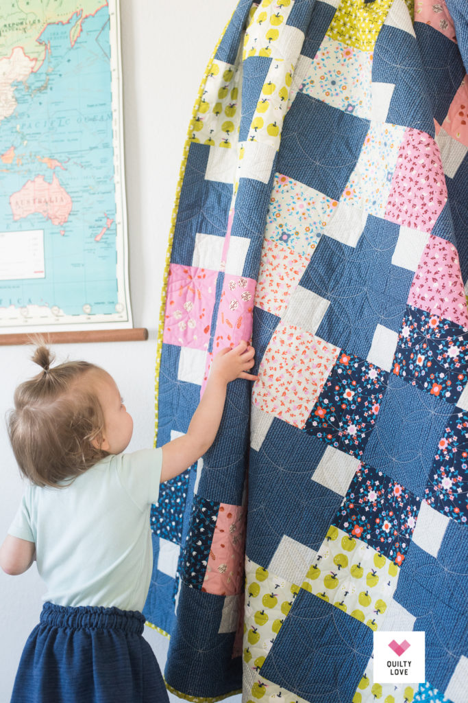 Hopscotch quilt by Emily of quiltylove.com using Smol fabrics