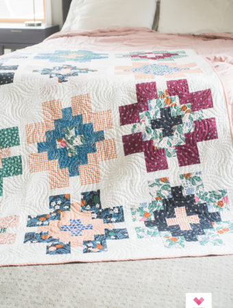 Figo Fabrics Glowing quilt by Quilty Love