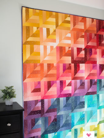 VandCo Fairy Dust Ombre Lucky Log Cabins quilt