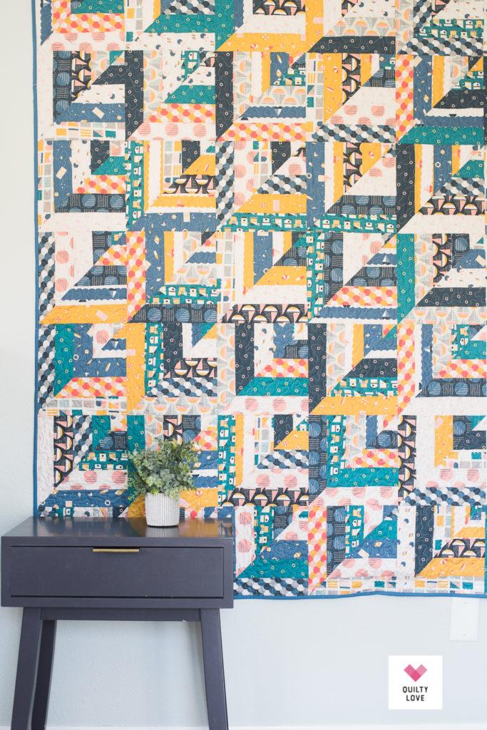 Figo Fabrics Lucky Log Cabins quilt